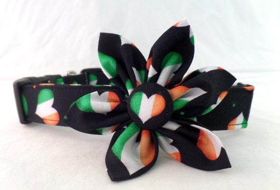 Mariage - Prissy Preppy Flower Dog Collar Upgrade