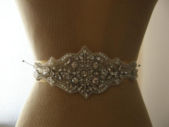 Mariage - SALE / Wedding Belt, Wedding Sash Belt, Bridal Belt, Bridesmaid Belt, Sash Belt, Bridal Sash, Belt, Crystal Rhinestone & Pearl
