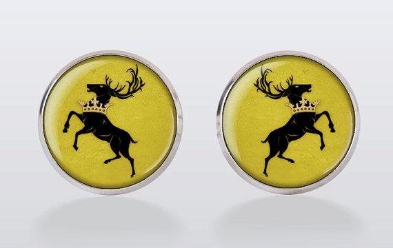 Mariage - cufflinks -Game of Thrones Cufflinks - Baratheon Stag Deer Cuff Links, groomsmen