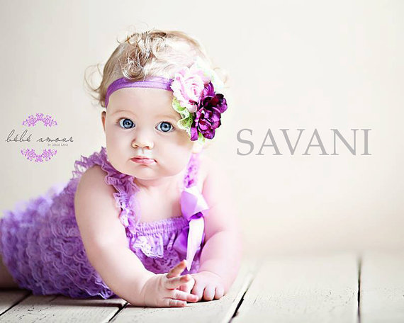 3304e19fb Baby girl romper,2 pcs lavender romper & headband. Petti Romper Set. Lace Petti  Romper ,Baby Girl Photo Prop,Flower girl lace outfit, romper