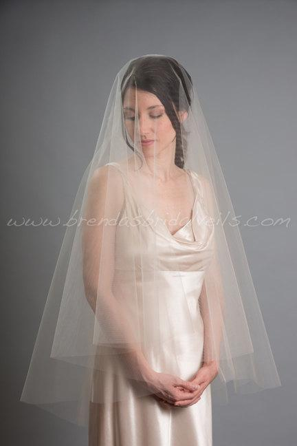 زفاف - Drop Veil, Wedding Veil, Bridal Veil Double Layer - Jodi Veil