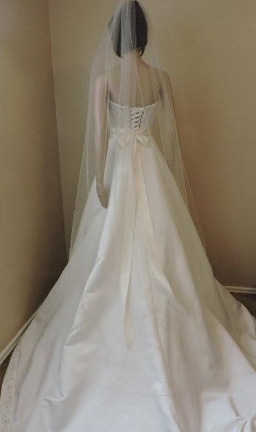 a3dac3ce72e9b Floor Length Sheer Wedding Veil With Pencil Edge ST7050PE  2215103 ...