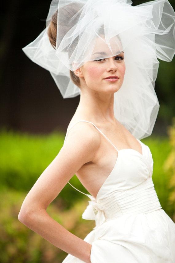 Wedding - Classy Wedding Veil -- Classy Bubble Veil