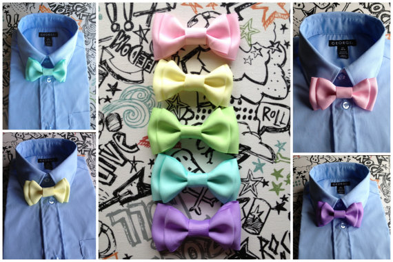 Свадьба - Boys bowties, babies bowties, toddlers bowties, mens Bowties, wedding You pick color Perfect for a baby shower gift weddings or groomsmen
