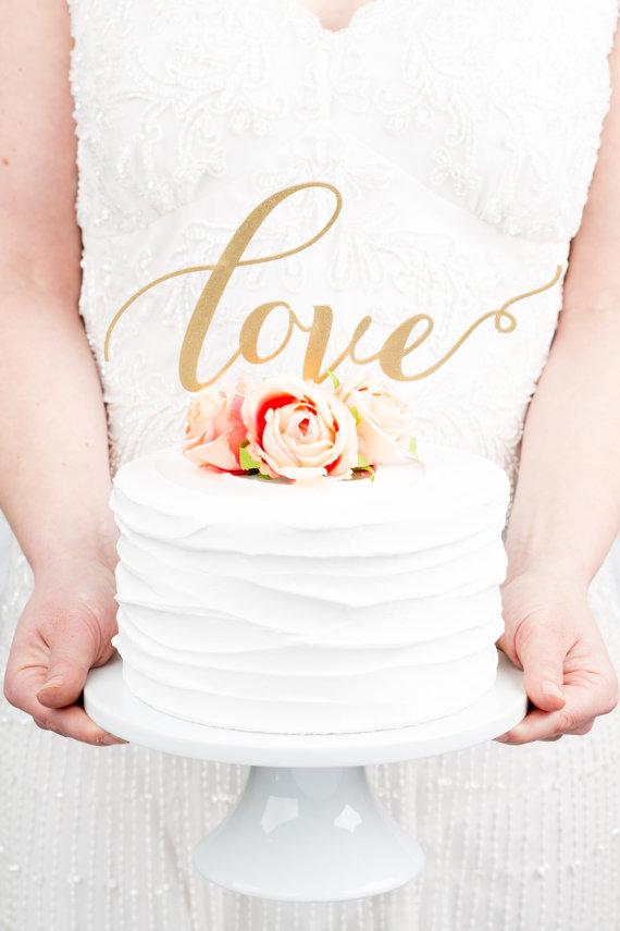 Wedding Cakes - Love Wedding Cake Topper #2215203 - Weddbook