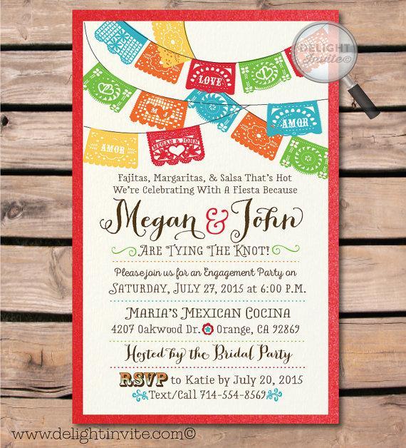 زفاف - Fiesta Engagement Party Invitations & Envelopes