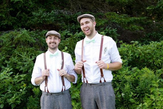 Men S Mint Bow Tie 4 Fabrics Stripes Seerer Pin Dot Groomsmen Bowties Wedding Father Day Christmas Son Set Family Photos