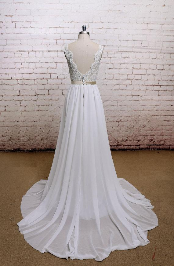 Champagne Wedding Dresses A Line : Wedding dress gown champagne lining bridal