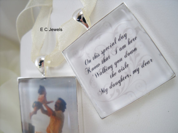 Hochzeit - Set of 2 - Photo and Memorial Bouquet Charms