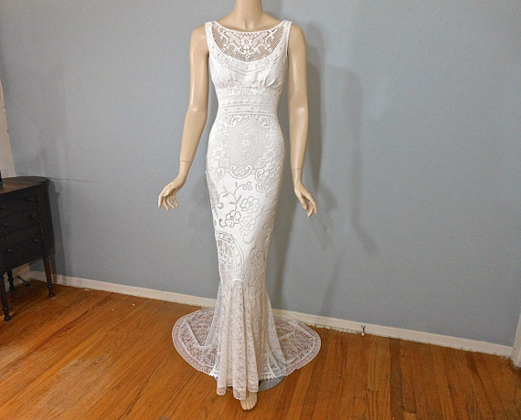 Ivory Bohemian Wedding Gown HIPPIE Boho Wedding Dress 4fb1ab2fcf65