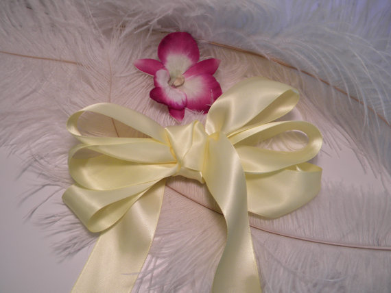 Sale Pastel Yellow Satin Ribbon 1 1 2 Headband Bow Supplies