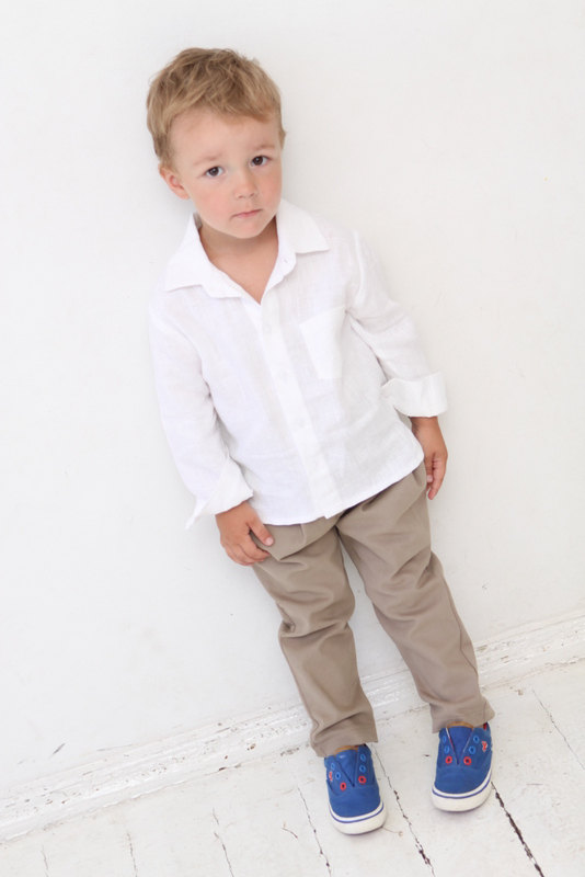 Baby Boy Dress Shirt Wedding Party 1st Birthday Baptism