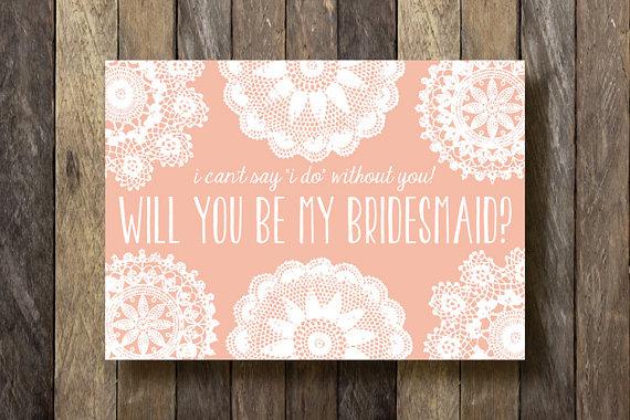 Bridesmaid Proposal Cards Instant Download Printable Bridesmaid