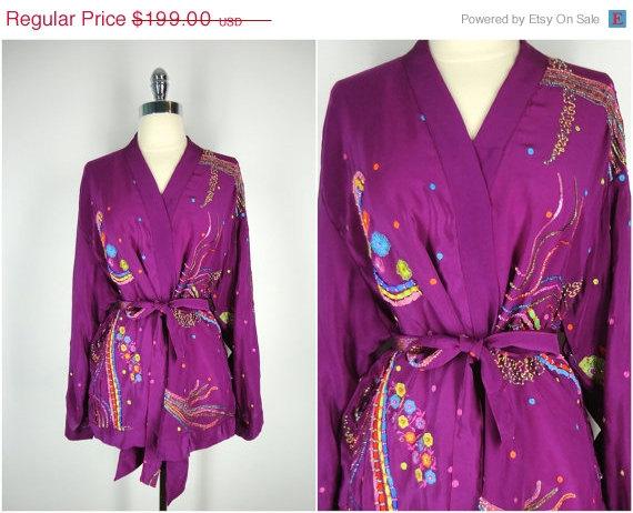 20% OFF SALE - Kimono / Silk Kimono Robe / Kimono Cardigan ...