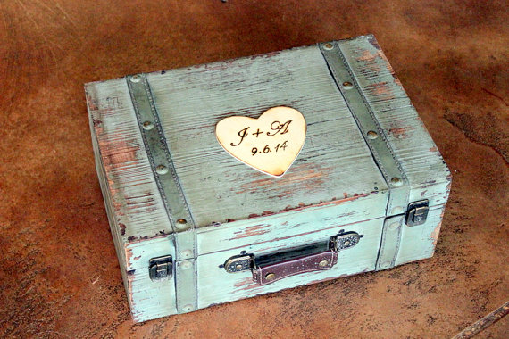 Wedding Card Box Trunk Wine Love Letter Ceremony Anniversary Rustic