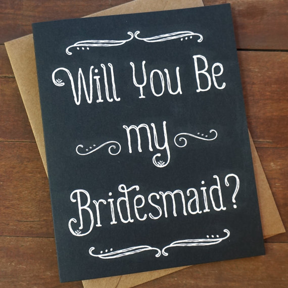 Wedding - Will You Be My Bridesmaid Card - Bridesmaid Card - Wedding Party Card - Bridesmaid Proposal - Bridesmaid Gift - Bridesmaid Invitation