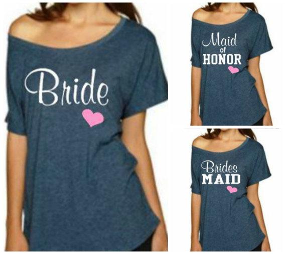 Wedding - Bride T-Shirt, Bridesmaid Shirt,  Maid of Honor Shirt, Sweatshirt. Wedding, Bachelorette Party.