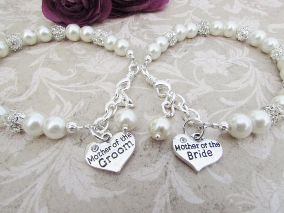 Mother Of The Bride Bracelet Groom Charm Bridesmaid Jewelry Bridal Party