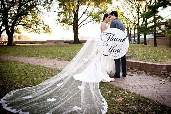 Mariage - Wedding Veil - Royal Cathedral French Bridal Alencon Lace Mantilla Veil with Appliques