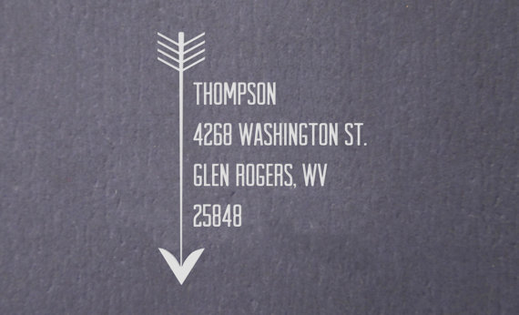 Wedding - Return Address Stamp - Great for Wedding Invitations - Personalized Gift