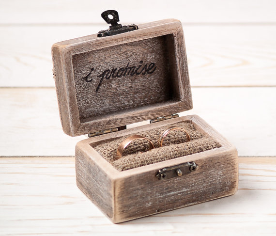 Merveilleux Ring Bearer Box Wedding Ring Box Rustic Wedding Ring Holder Pillow Bearer  Box With Hearts Wooden Engagement Ring Box Burlap And Lace
