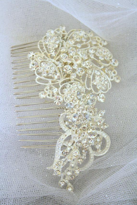 زفاف - Bridal Hair Comb Wedding Hair Comb- Wedding Hair Accessories-Rhinestone Bridal Comb-Crystal Wedding Comb-Bridal Headpiece