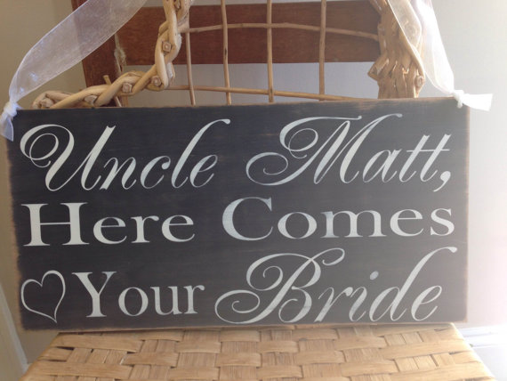 Chalkboard Wedding Signs Uncle Here Comes Your Bride