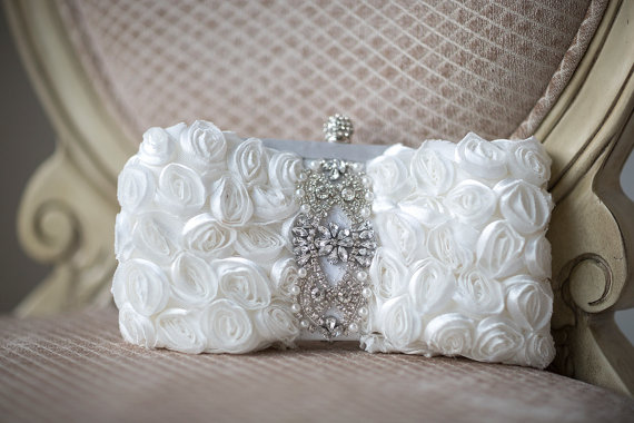 Mariage - Wedding Clutch, Bridal Purse, Bridal Handbag, Wedding purse, Bridal Clutch