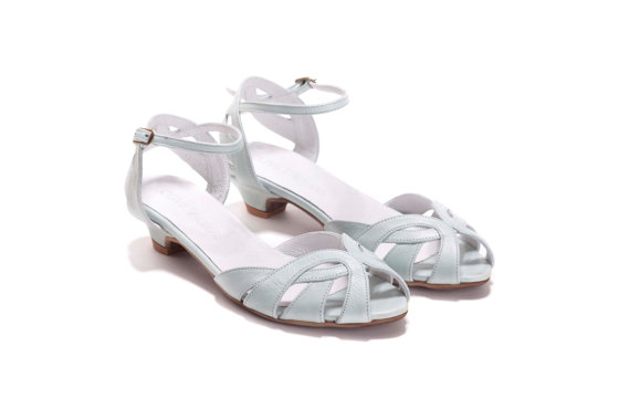 Wedding - SALE 15% OFF Womens Mint Strappy Sandals , Wedding Shoes , Brides Shoes , Handmade Leather Sandals, Free Shipping