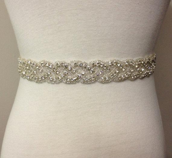 زفاف - Bridal Sash-Rhinestone Sash-Wedding Sash-Rhinestone Belt-Wedding Accesories-Beaded Belt-Crystal Bride Belt-Loops Beaded Rhinestone Sash