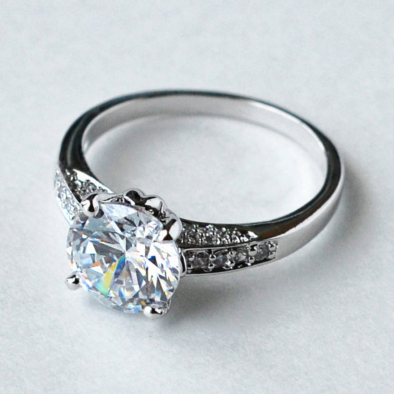 Cz Ring Cz Wedding Ring Cz Engagement Ring Cubic Zirconia