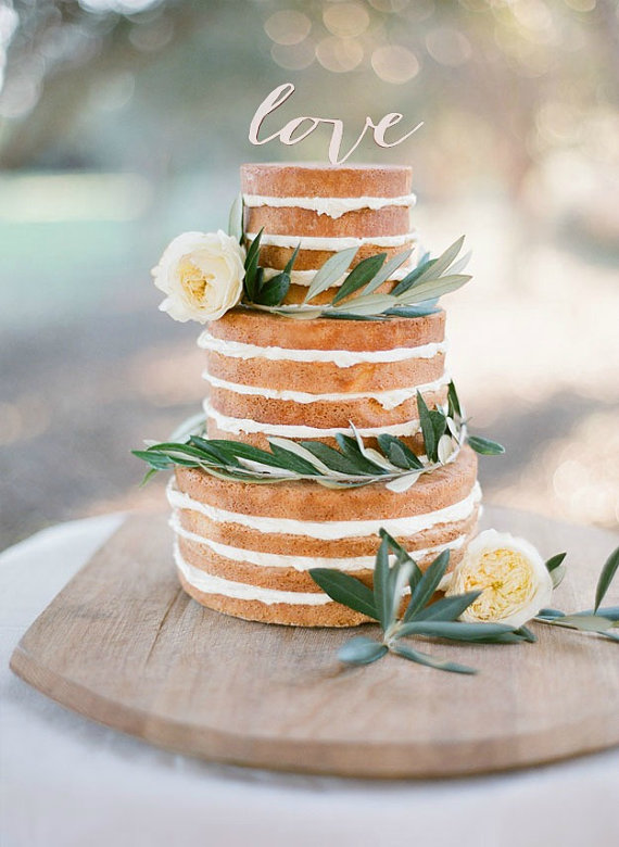 RUSTIC CAKE TOPPER - Wedding Cake Topper - Engagement Cake Topper ...