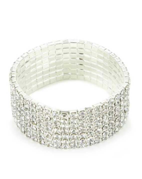 rhinestone crystal bouquet wrap bridal wedding cuff bracelet bridal