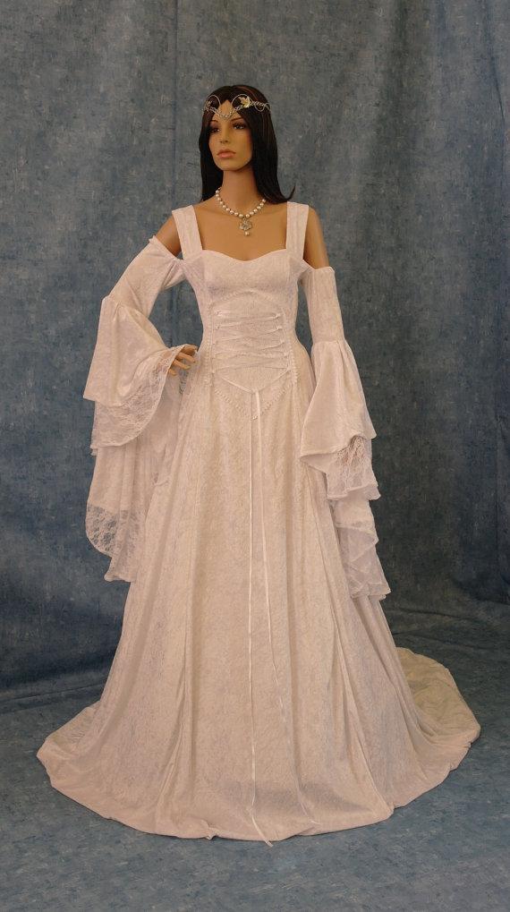 Свадьба - Renaissance medieval handfasting  wedding dress custom made