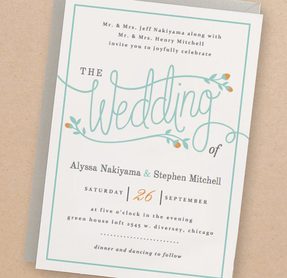 Wedding - Printable Wedding Invitation Template