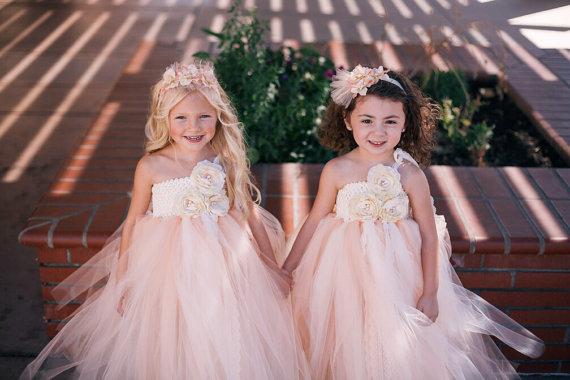 Свадьба - Victorian Beauty with Pearls TuTu Dress. Flower girl dress. Wedding