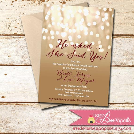 Engagement Party Invitations Etsy – Engagement Party Invitations Etsy