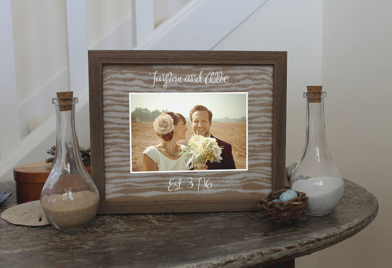 Unity Sand Ceremony Frame Set In Chabby Chic Barnwood White Black Or Cherry