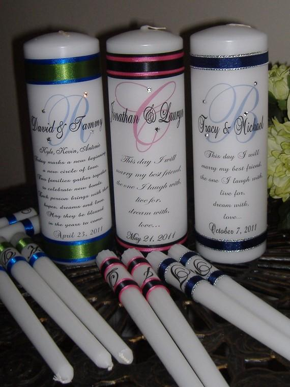 Monogram Unity Candle Set With Crystals - Blended Family #2216377 ...