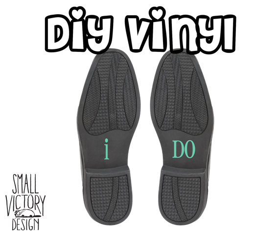 زفاف - I Do, Groom Wedding Shoe Decals / DIY Vinyl Stickers / DIY Vinyl Decals / groom shoe stickers