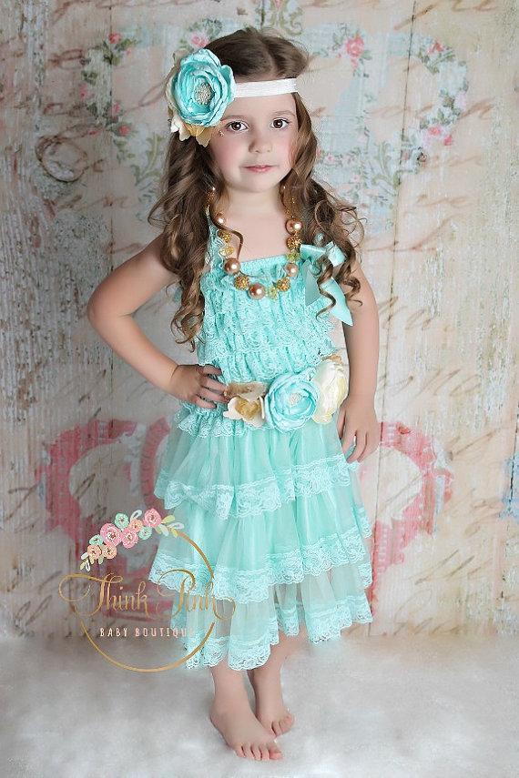 142f818b0 Tiffany blue Flower girl dress,Flower girl dresses , whiteBaby lace dress,  1st birthday dress outfit,tiered ruffle dress, Baby dress.
