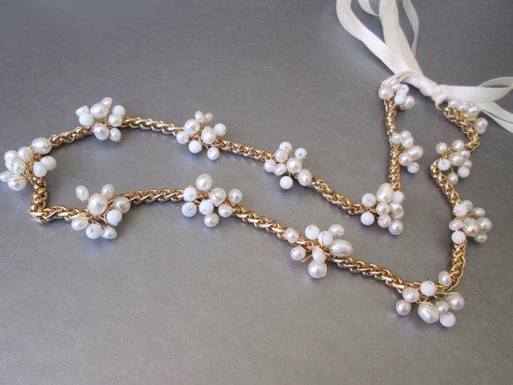 Свадьба - Popcorn skinny belt, Bridal belt sash, Pearl and white jade skinny bridal belt, Wedding belt sash, Skinny bridal gemstone belt
