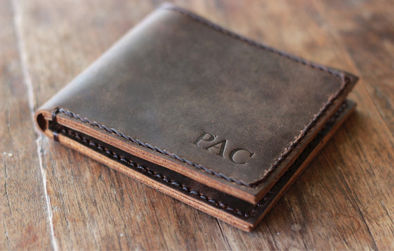 a6409c9c31c75 PERSONALIZED WALLET --- EURO Friendly Men s Leather Wallet - 027 - Perfect  Groomsmen Gift