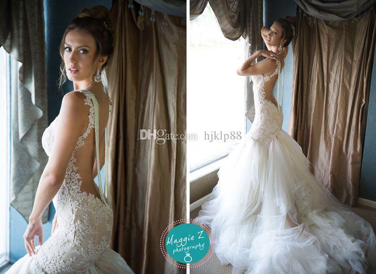 Latest Galia Lahav 2014 Lace Wedding Dresses With Spaghetti Backless ...