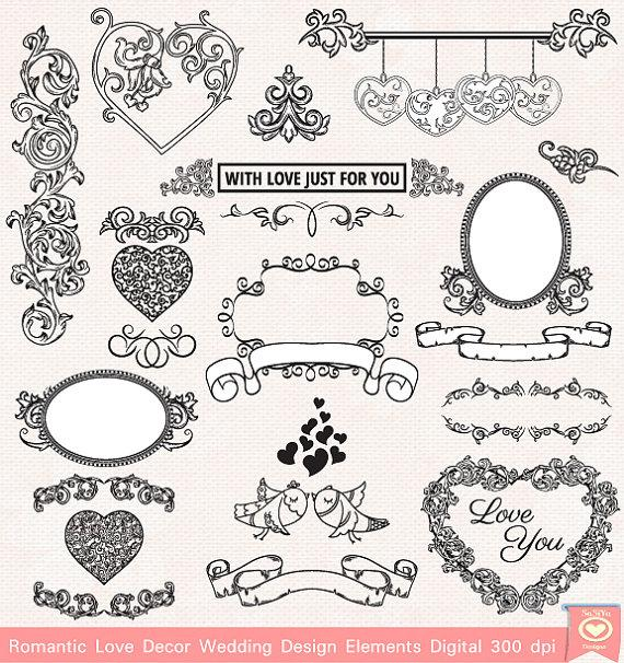 free wedding scrapbook clipart - photo #1