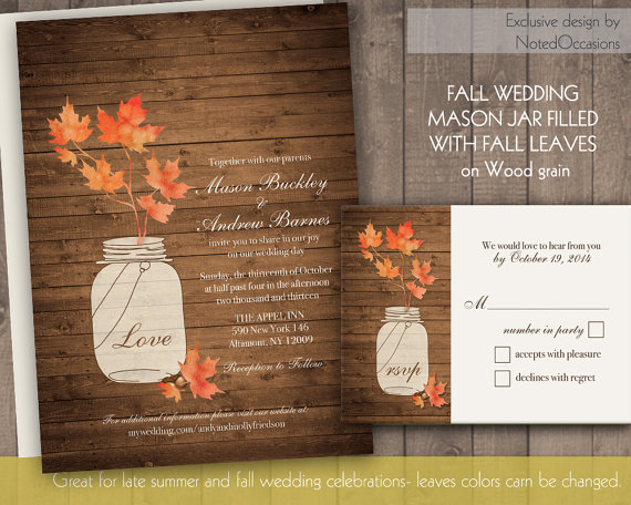 Свадьба - Fall Wedding Invitations