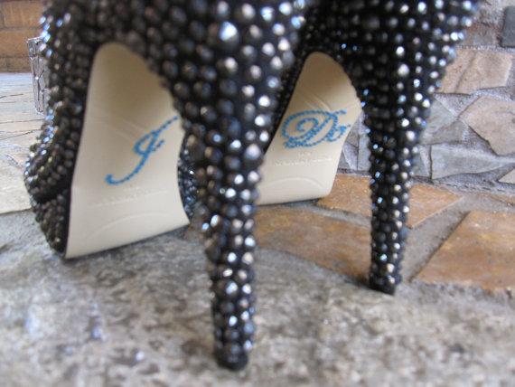 "Mariage - I Do Shoe Sticker. Something Blue ""I Do"" Wedding Shoe Sticker."