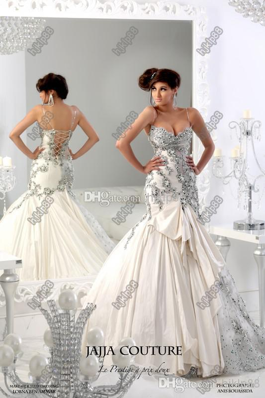 2014 new sweetheart spaghetti crystal beaded sexy mermaid for Wedding dress stores in arkansas