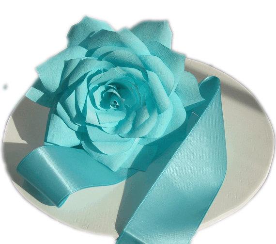Tiffany Blue Wedding Cake Flowers Wedding Decor Paper Flowers