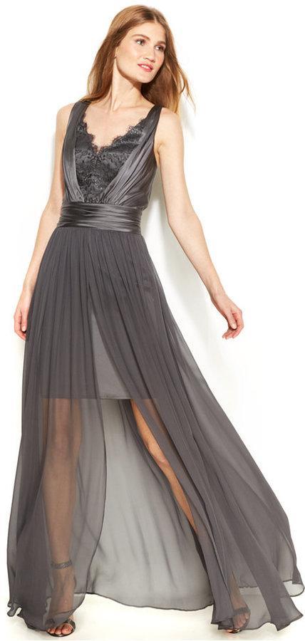 786e5633452f Vera Wang - Vera Wang Lace Chiffon High-Low Gown #2217394 - Weddbook